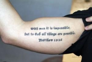 verse tattoo